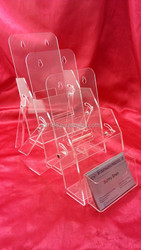 Acrylic wall mounted brochure holder tabletop name card holder with tent