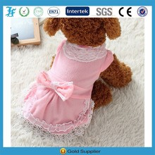 DHL Warm Pink Pet Apparel for sell with bow tie for dog/animals