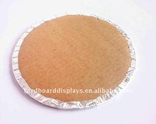 golden or silvery corrugated cake board