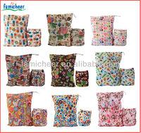 2014 Famicheer Double zipper Wet Dry Bag,Two Pocket Diaper Bag
