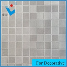 Cube patterns PVC leather wall decorative cover