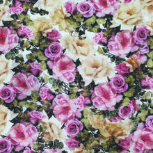 shaoxing pinting embroider cotton fabric rose print fabric
