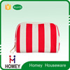 Factory Driect Sale contents cosmetic bag stripe pattern make up bag
