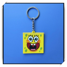 Various custom different shape/designs silicone rubber pvc cartoon keychain making supplies