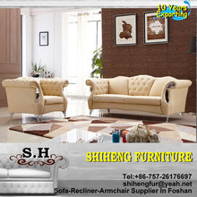 Luxury Italian Style Antique Chesterfield Hotel Leather sofa A987