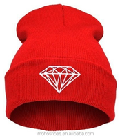 Wholesale bulk embroidery design your own custom beanie boo winter knited beanie hat