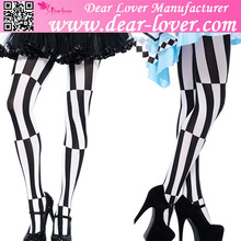 Manufacture Price Psychedelic Malposed Costume Shiny Pantyhose for Women