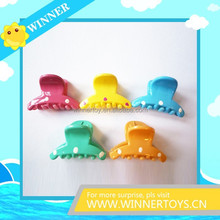 2015 fashion multi color plastic hair claw clips
