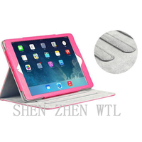 2015 new model stand leather cover case for ipad 2 3 4