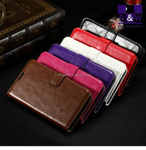 Hot New Products For 2015 For Nokia Lumia 640 Crazy Horse PU Leather wallet Cover Stand Flip Case