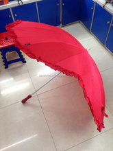 """Hot Selling Promotion and OEM wholesale gifts new 25"""" 16 ribs red heart shaped umbrella"""