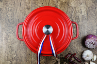 QULENO cast iron stainless steel enamel pot set cast iron pot