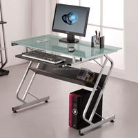 Modern simple tempered glass computer desk/office table design DX-C120