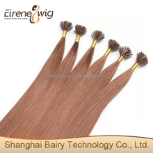 Eirene Good Looking Factory Price Top Grade Silky Straight Brown Color U Tip Hair Extension Cuticle Remy 5A Malaysian Hair