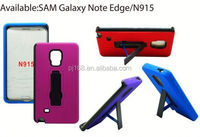New product hybrid combo hard kickstand cover robot case for Samsung Galaxy Note Edge N915