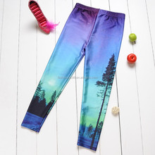 Wholesale forest printed cheap fitness ladies galaxy legging FREE SAMPLE