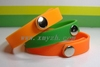 Hot selling colorful silicone bracelet with metal clasp