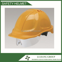 yellow modern cheapest Safety Helmet Attachs Retractable Eye Shield