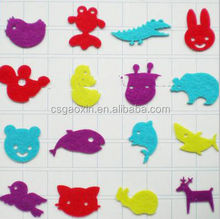 DIY nonwoven handicraft felt with colorful needle punched nonwoven diy sticker