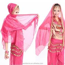 BestDance arabic wedding veil high quality belly dance silk veil chiffon veil OEM