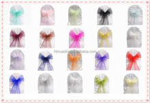 whloesale sheer ribbon bow for wedding chair decoration