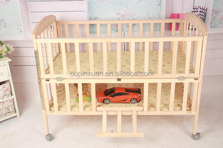 super qualit lit b b r glable mobile lit b b en bois pliante en bambou lit barreaux. Black Bedroom Furniture Sets. Home Design Ideas