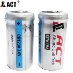 High quallity 3.0v lithium battery 1500mAh CR17335 cr123a battery