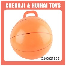 orange rubber handle ball inflatable bouncing ball