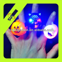 Halloween pumpkin led light up jelly ring