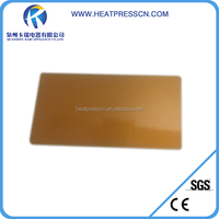 0.45mm thickness blank sublimation business card,gold metal card