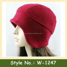 W-1247 unisex warm chunky cotton beanie earflap winter hat