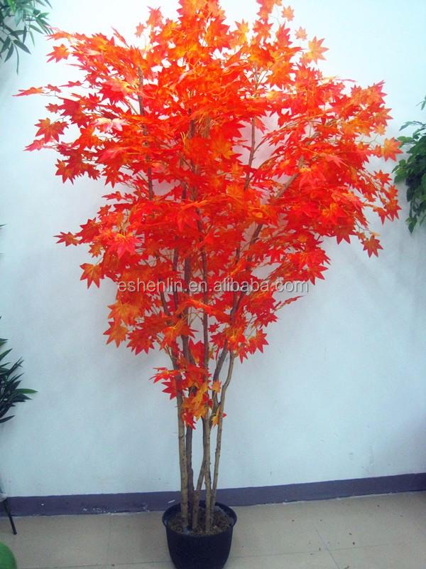Rable rouge artificielle r el tronc arbre plante for Arbres artificiels pour exterieur