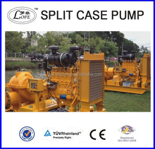 diesel engine axial case split double suction centrifugal water pump