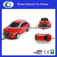 Audi Car Shaped Optical USB Mouse Red