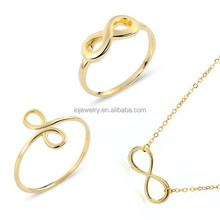 Fashion ring and necklace pendant sets jewelry , Brass jewelry sets