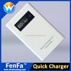 Qualcomm QC2.0 power bank for Samsung S6,Note 4,HTC Xiaomi Mi4 Quick charge 2.0