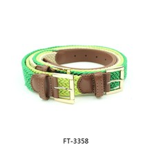 Fashion Candy Color Cotton Rope Braided Belts For Children