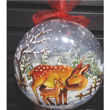 4d printing customize transparent designs new year christmas supplies Christmas ball decoration