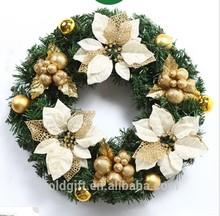 pvc exquisita guirnalda para la decoración del árbol de Navidad