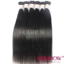 Alli express grade 5A double weft no shed no tangle natural straight 100% human hair