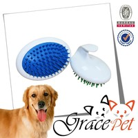 New Design Pet Oval Shampoo Massage Brush, Dog Grooming Tools