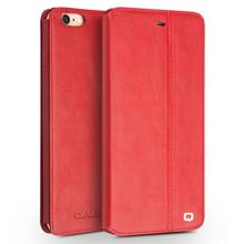 QIALINO Top Class Custom Shape Printed Hand-Made Vertical Flip Pu Leather Case For Apple For Iphone 6 4