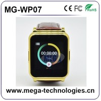 2G smart touch screen mobile led watch phone with camera and earphone bluetooth, private module wearavke devices