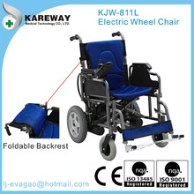 Portable folding electric wheelchair for handicapped