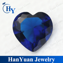 Lab created dark Blue heart synthetic Spinel Gems