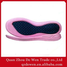35# To 40# New Arravil Gum Rubber Women Shoe Outsoles Hot sale Made In Jinjiang China MOQ 1200 Pairs