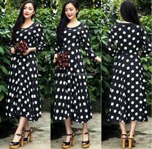 2016 Summer Fashion White Polka dot print evening dress malaysia online shopping/women's evening dress chiffon fabric
