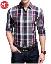 casual hombres camisa a cuadros pq210