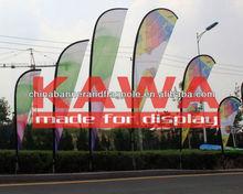 Playa con bandera bandera polo bandera de publicidad exterior hardware de la pantalla