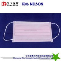 pink disposable surgical face mask/ special color face mask manufacturer in china